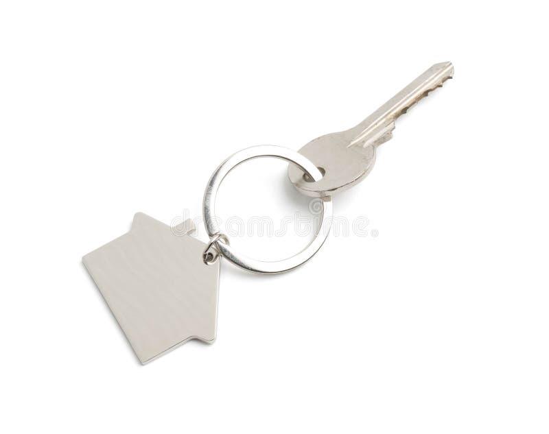 house key isolated on white stock photo