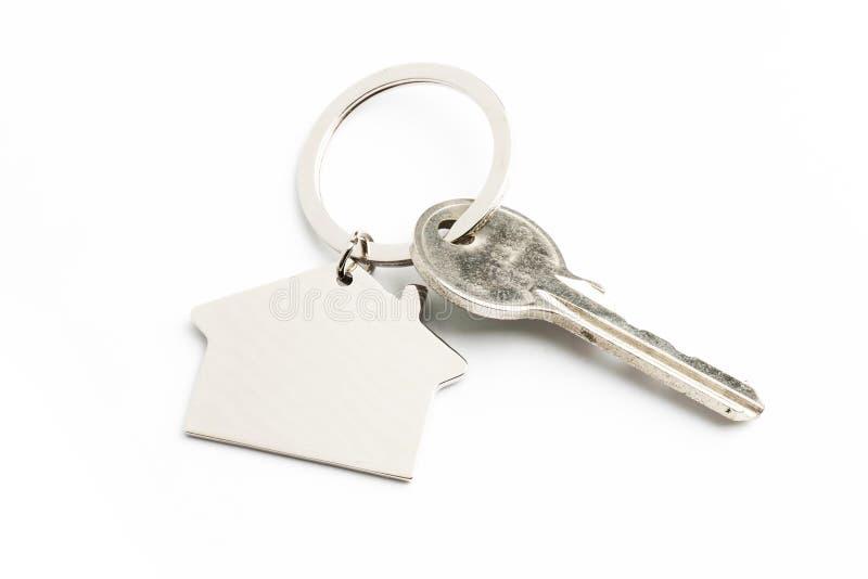 house key isolated on white royalty free stock image