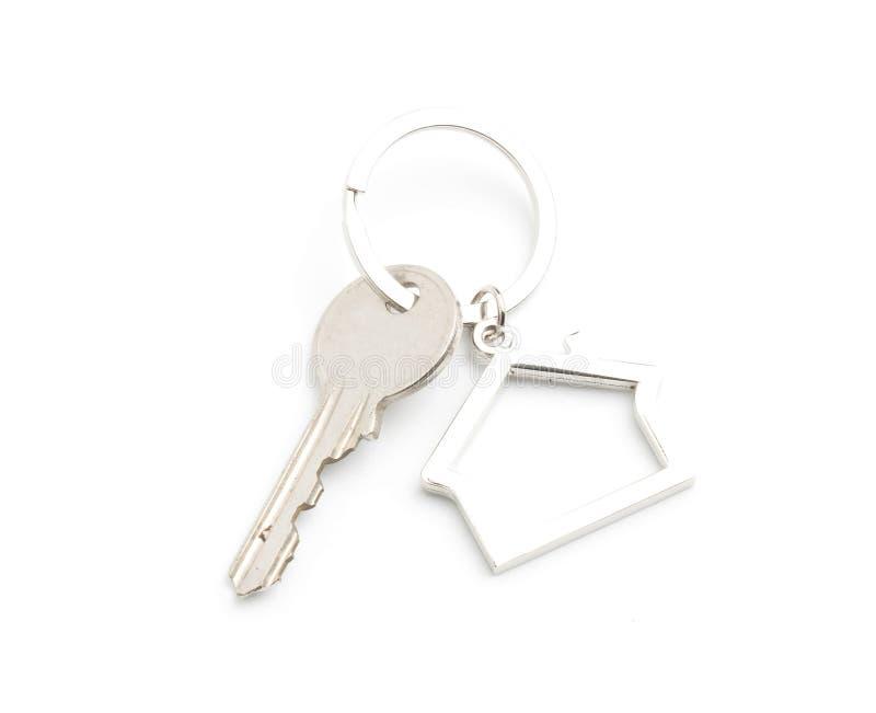 house key isolated on white stock images