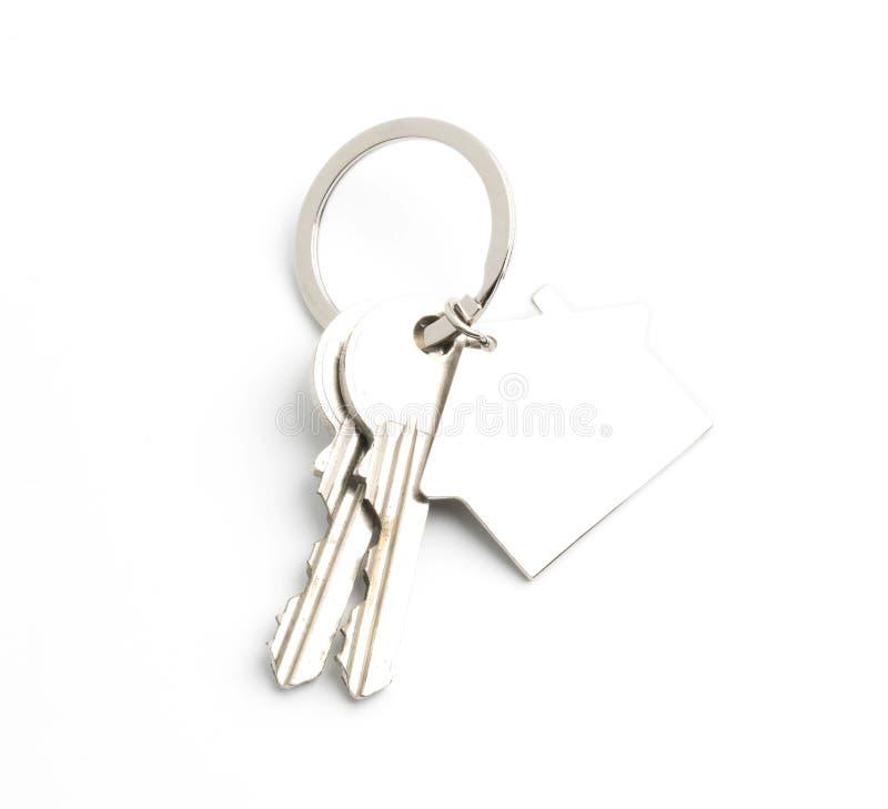 house key isolated on white royalty free stock photography