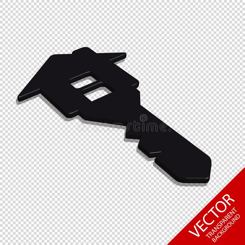 House Key - Real Estate Business 3D Vector Icon - Isolated On Transparent Background stock illustration