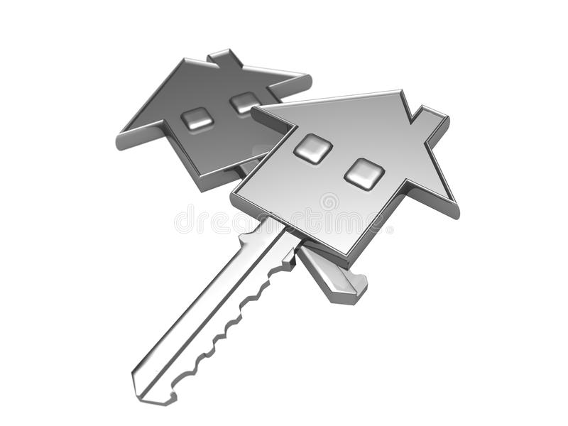 House key and real estate concept royalty free illustration