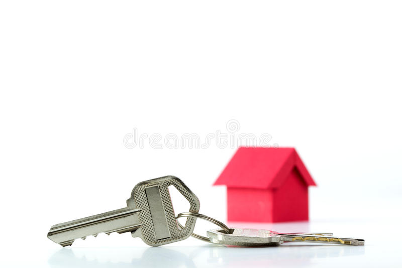House key for real estate concept stock photography