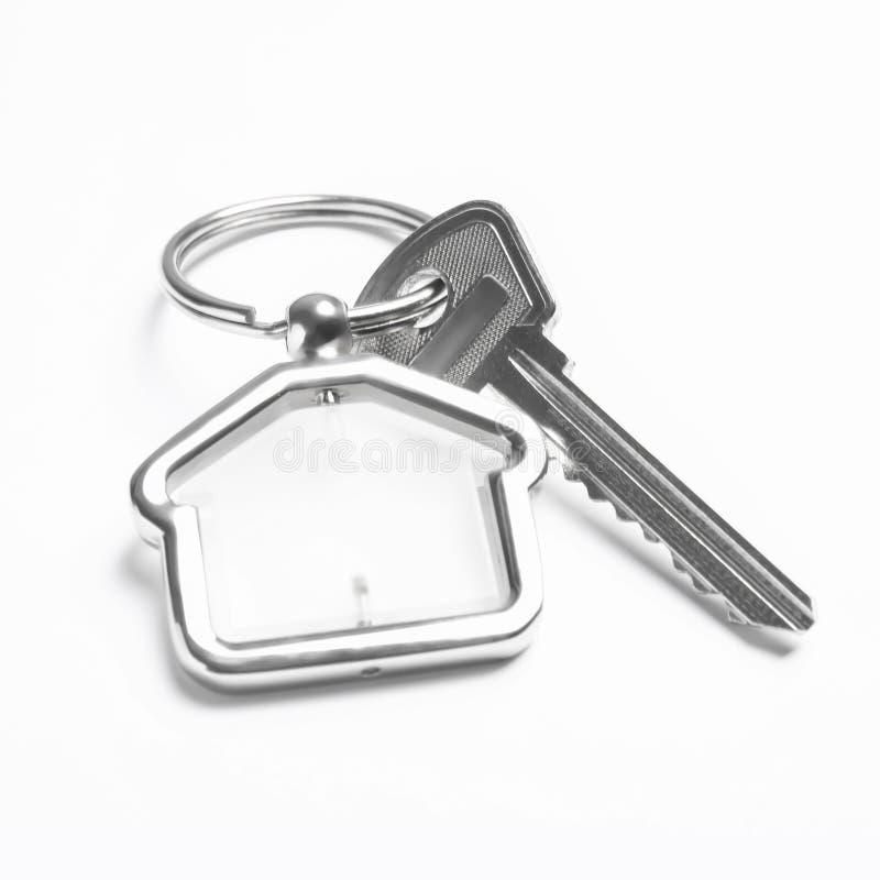 House key with trinket royalty free stock photo