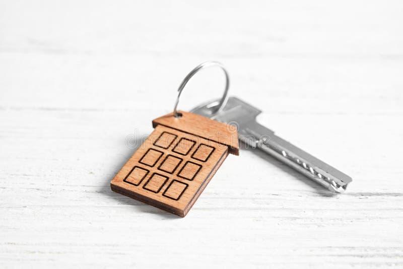 House key with trinket royalty free stock image
