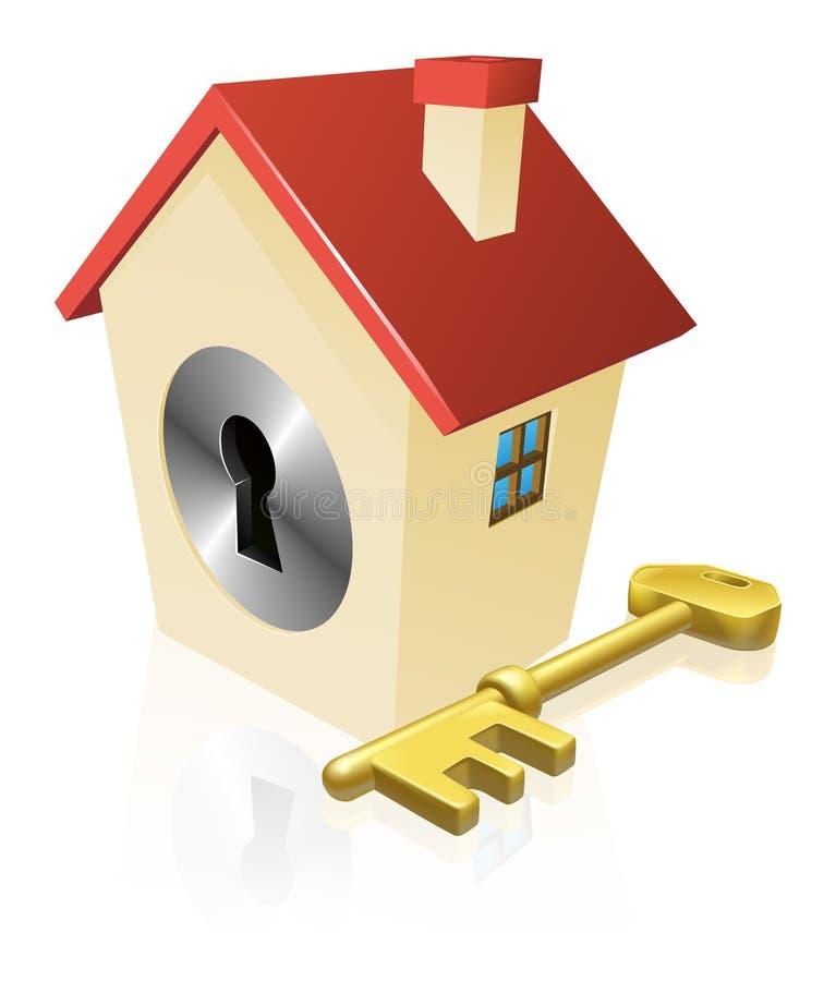 House Keyhole Key Concept Royalty Free Stock Photos