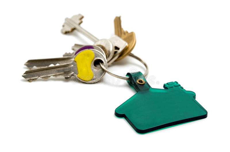 House keys. On a white background royalty free stock image