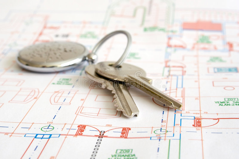 Download House keys stock photo. Image of house, move, blueprint - 1600384