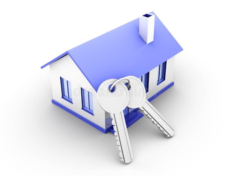 Download House and Keys stock illustration. Image of symbol, digital - 18756623