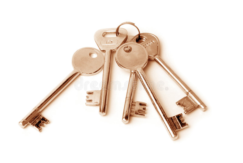 House keys. Home keys on isolated background stock photography