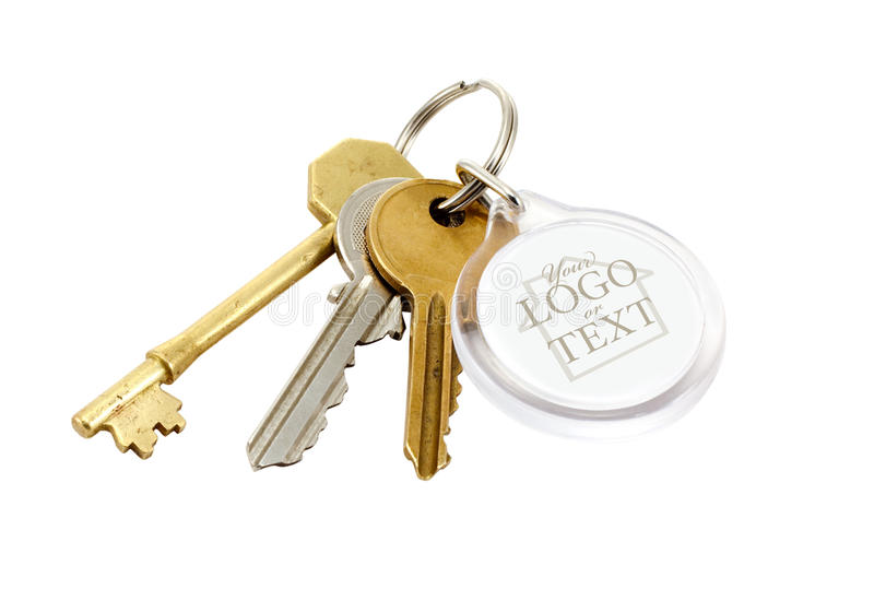 Download House keys blank tab stock photo. Image of property, clear - 25831974