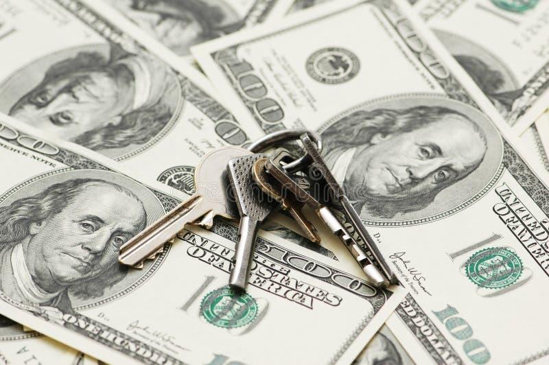 House keys over the hundred do stock images