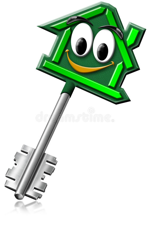Download House keys with a smile stock illustration. Image of house - 21487932