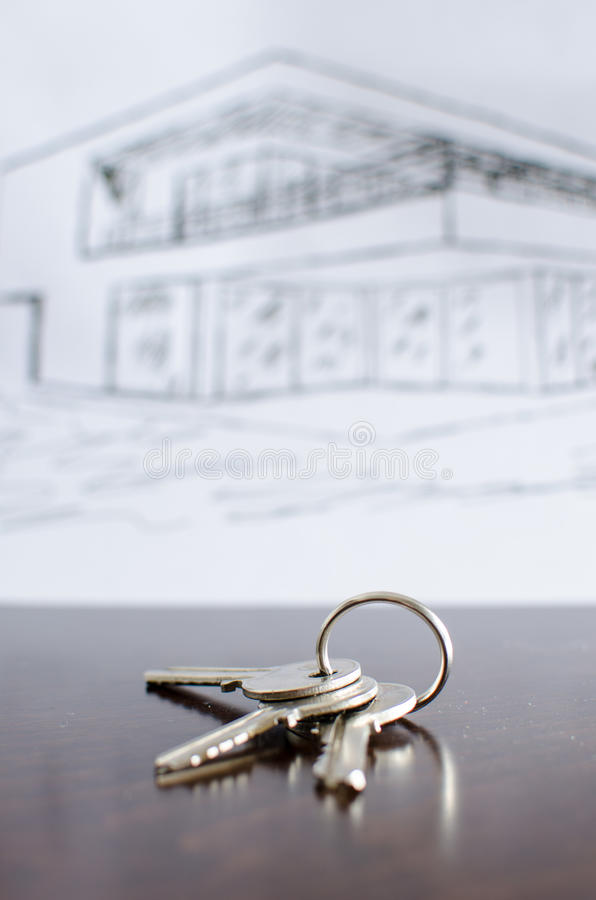 House keys on a table stock photo. Image of built ...
