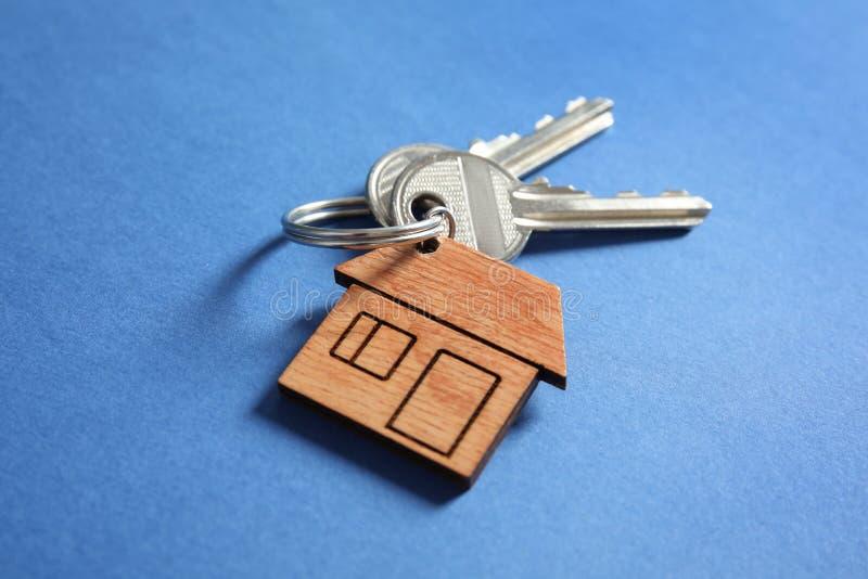 House keys with trinket stock photo