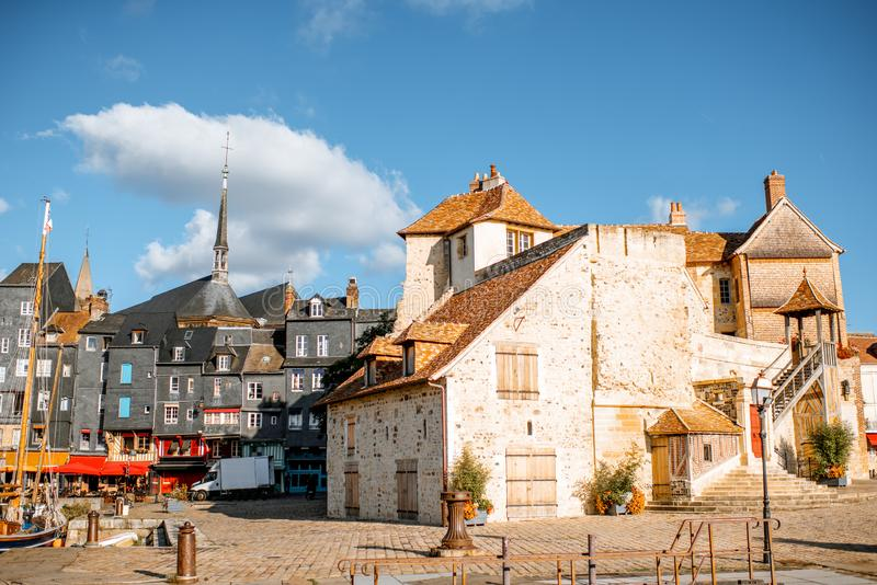 House of Kings in Honfleur, France royalty free stock photo