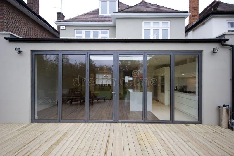 House kitchen extension royalty free stock photo