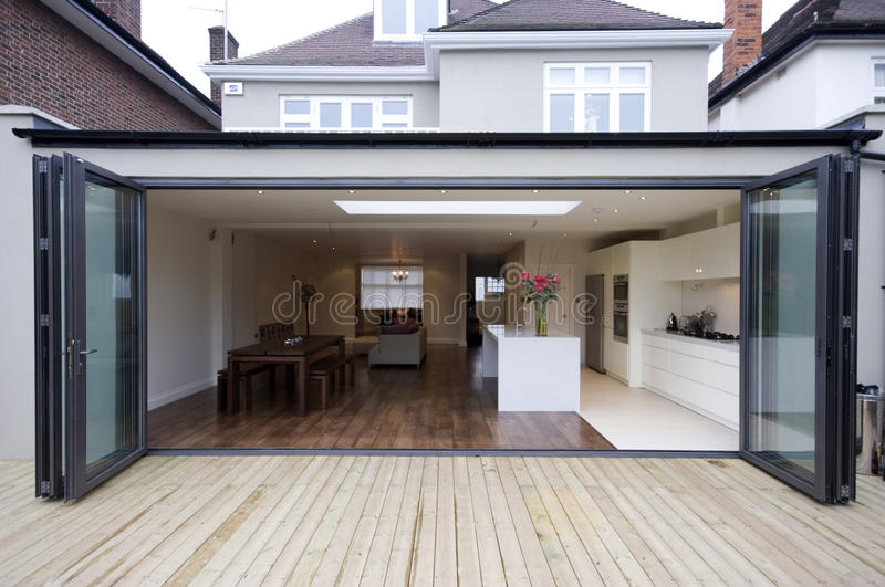 House kitchen extension royalty free stock image