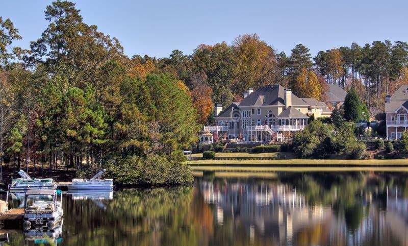 House On Lake stock image