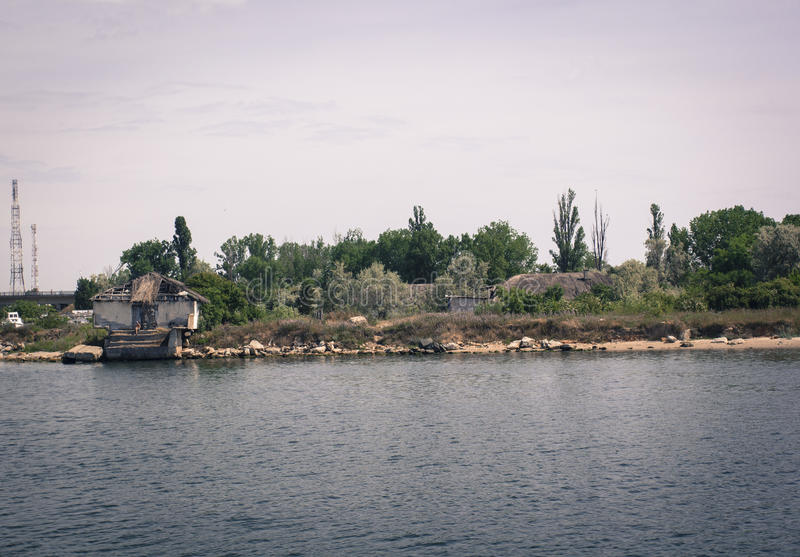 House on a lake royalty free stock image