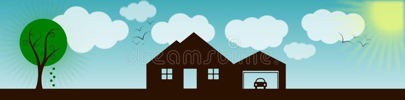 Download House With Landscape Banner Stock Illustration - Illustration: 29195808