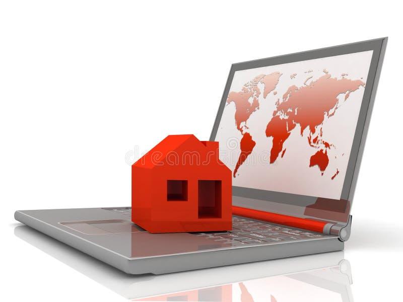 Download House on laptop stock illustration. Illustration of idea - 20619997