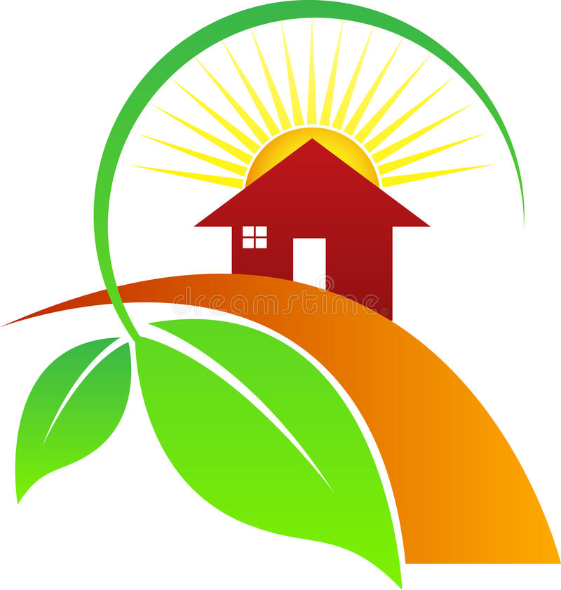 House leaf sun stock illustration