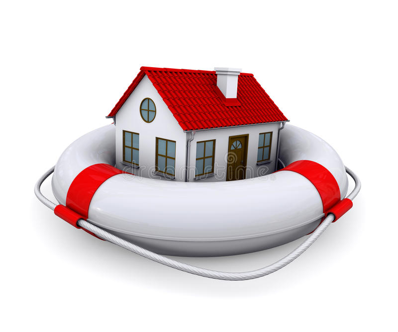 Download House in lifebuoy stock illustration. Image of housing - 24108615