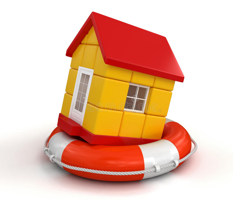 Download House And Lifebuoy (clipping Path Included) Royalty Free Stock Photo - Image: 33835925