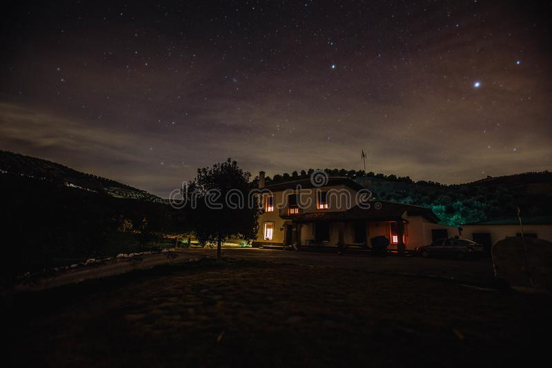 House With Light during Nighttime royalty free stock image