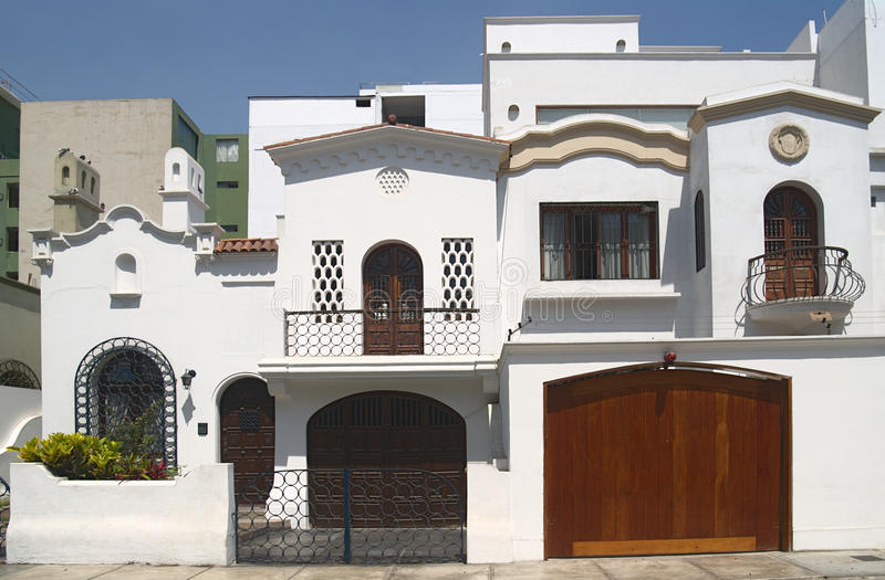 House in Lima, Peru stock image