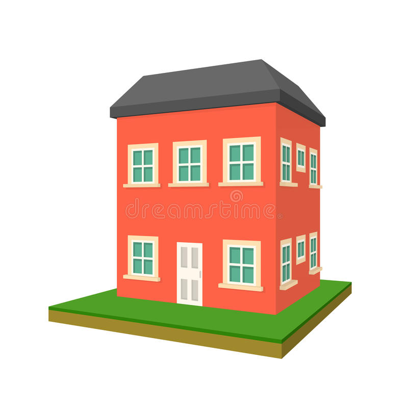 two story house  stock illustration