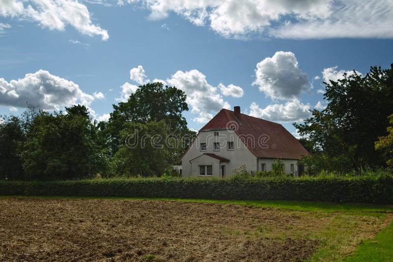 Download House Listed As Monuments In Kirchdorf, Mecklenburg-Vorpommern, Germany Stock Image - Image of field, horizontal: 103800865