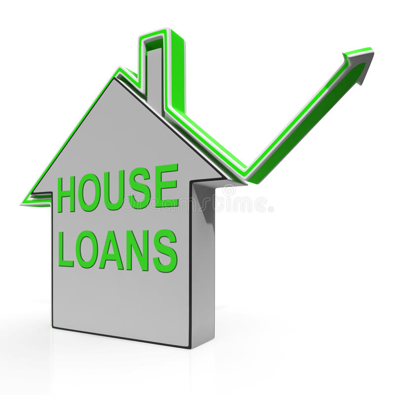 House Loans Home Means Borrowing And Mortgage royalty free illustration