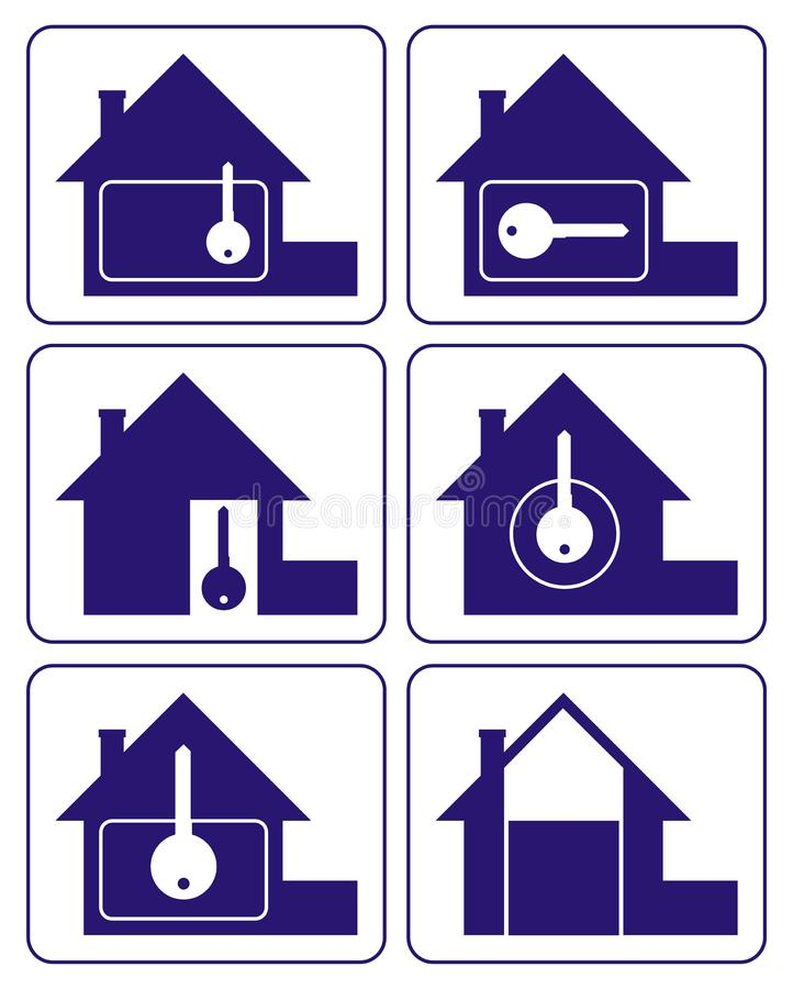 House logo 2 stock images
