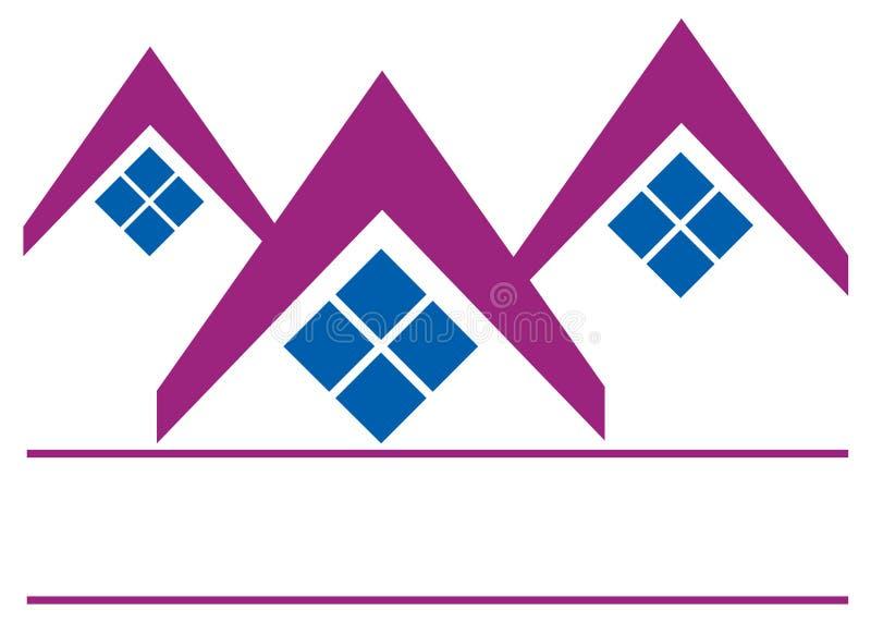 House logo. Vector illustration of house isolated on white background stock illustration