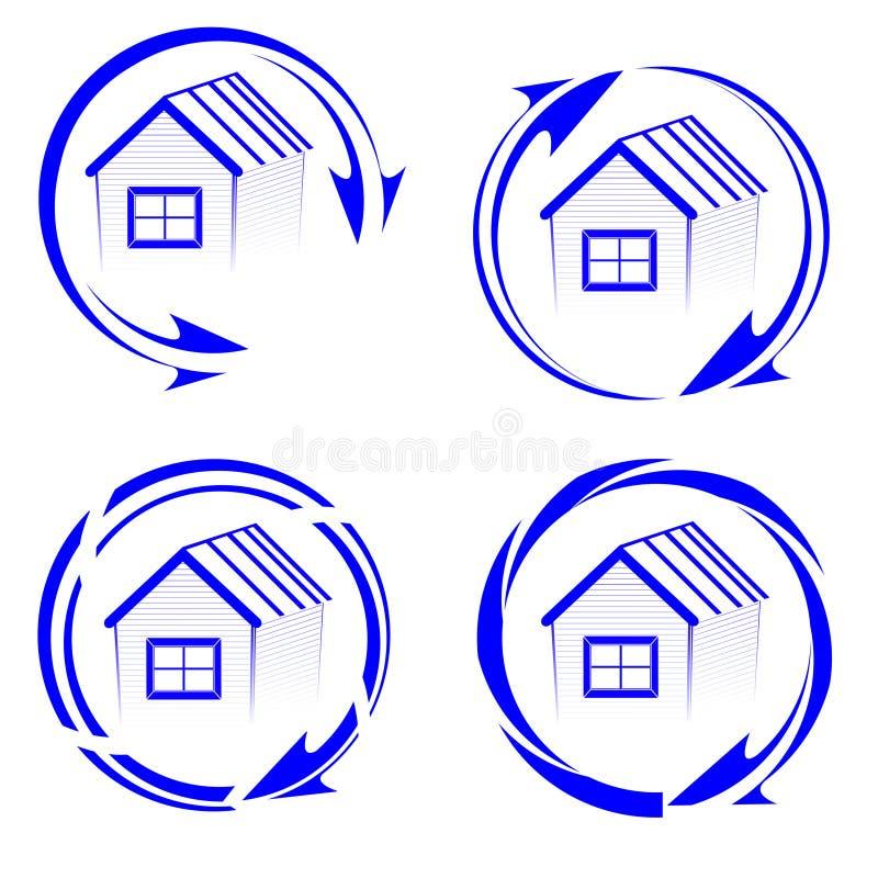 House logo with an arrow stock photography