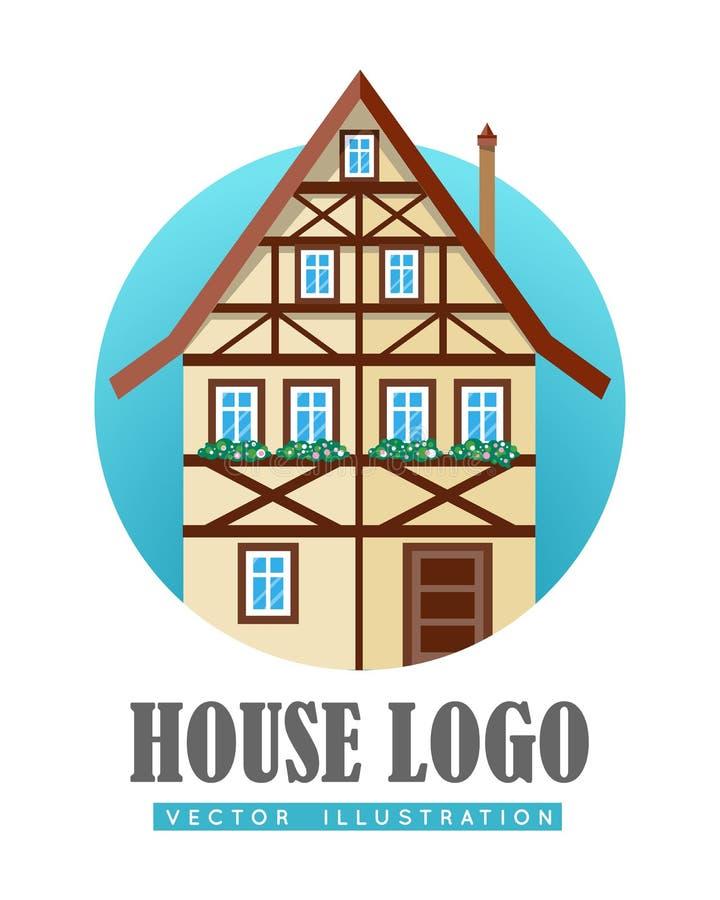 download house logo flat design vector stock vector image