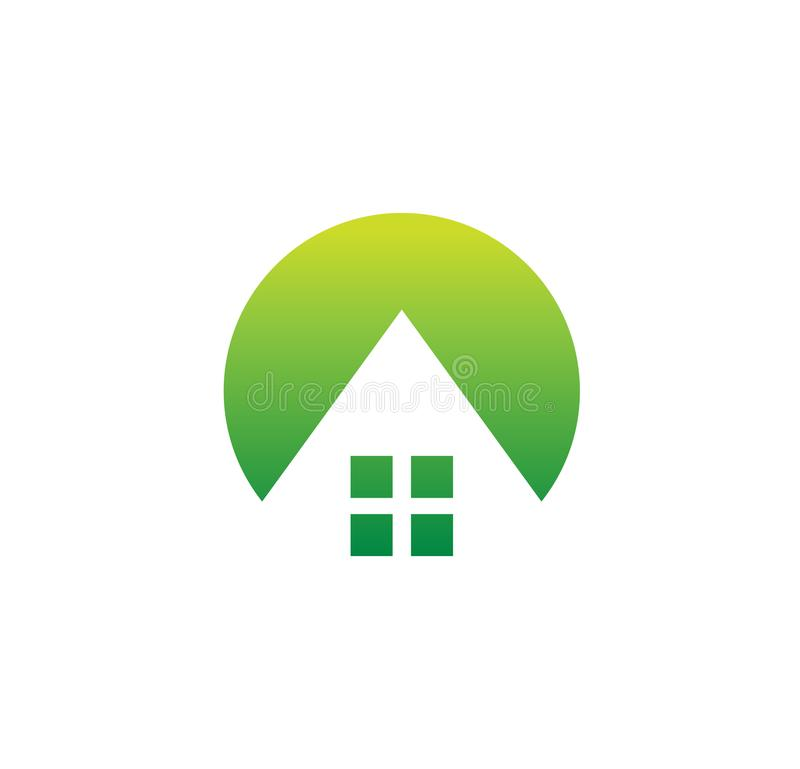 House logo, hostel, home design, repair business, real estate icon, building logo template, architecture symbol, village stock illustration