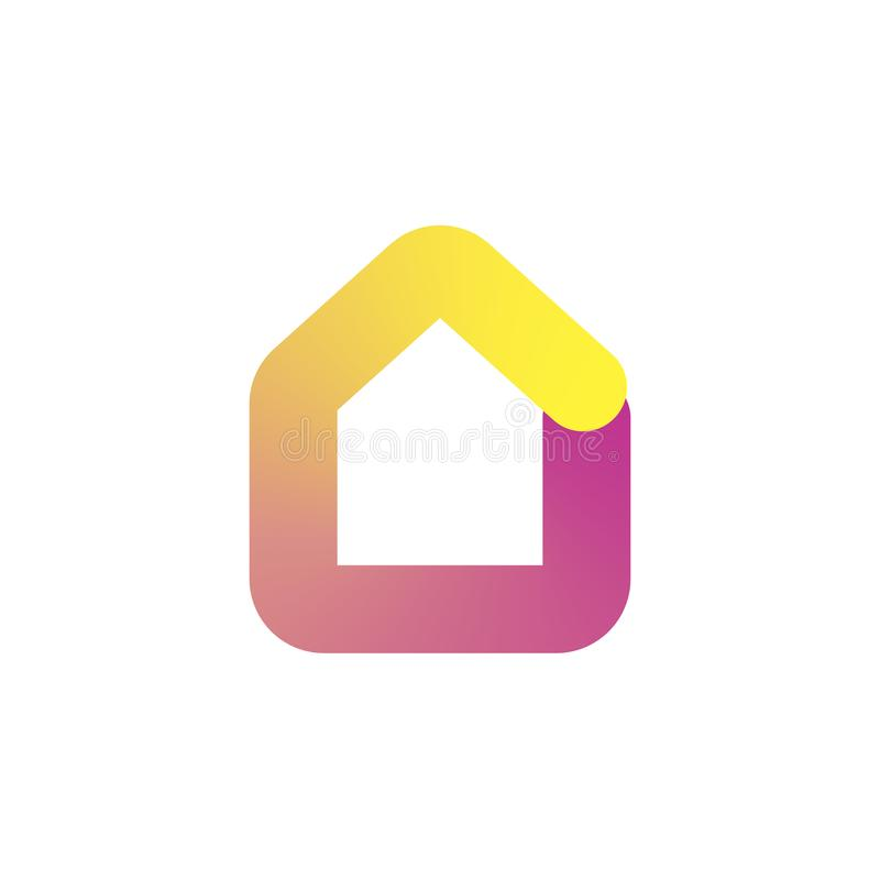 House Logo, Icon in colorful gradient design concept. Vector illustration royalty free illustration
