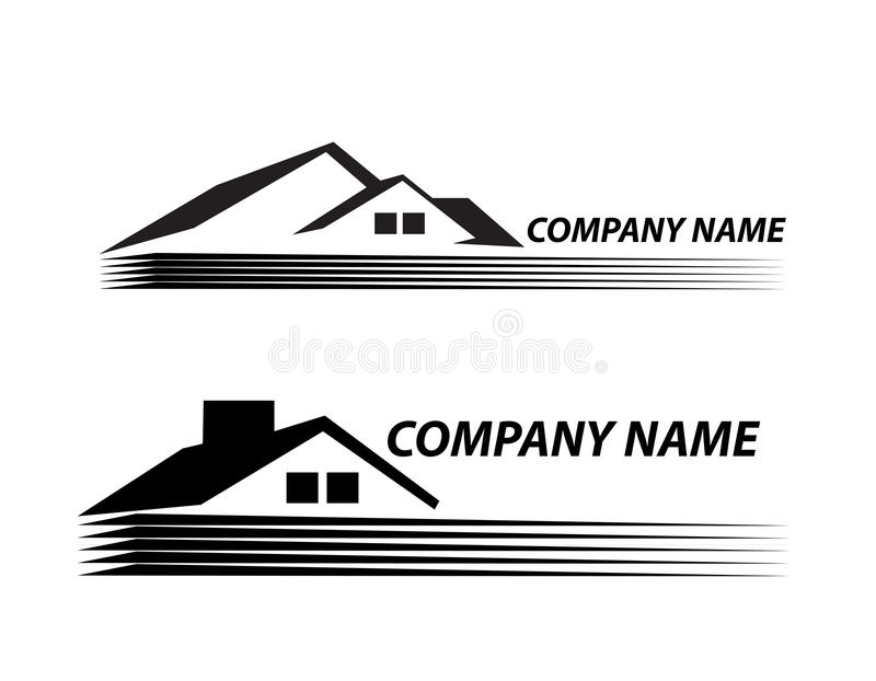 House logo very detailed and expressive Real Esta royalty free illustration