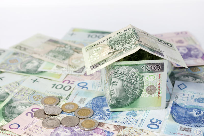 Download House Made of Polish Money Credit And Construction Stock Photo - Image: 28633124