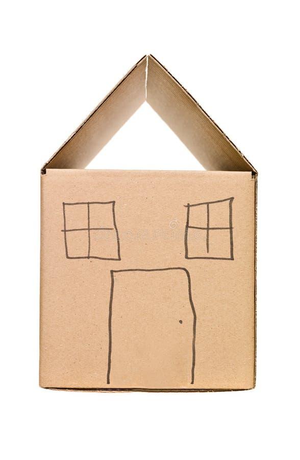 House made of Cardboard box stock photos
