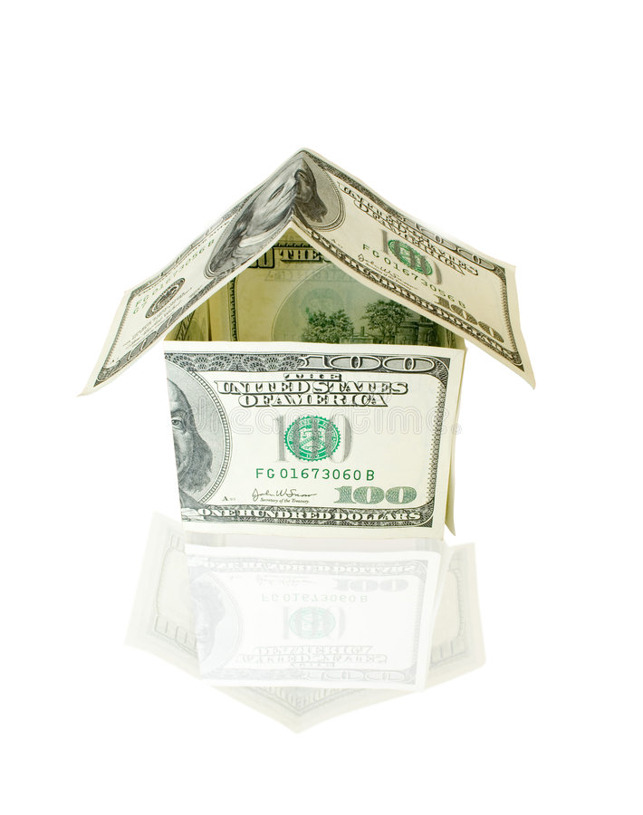 Download House Made From Dollar Bills Stock Photo - Image: 7263782