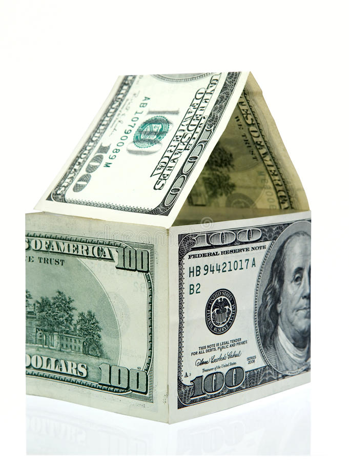 Download House Made From Dollars Stock Photography - Image: 12015992