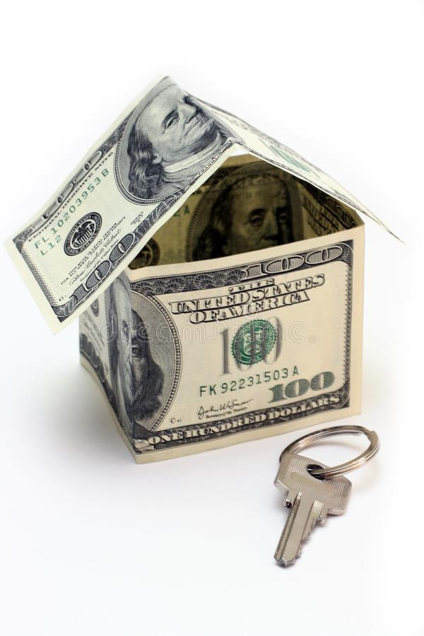 The house made of Dollars royalty free stock photos