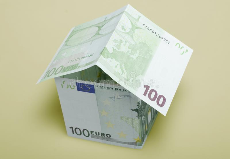 House made from euro stock image