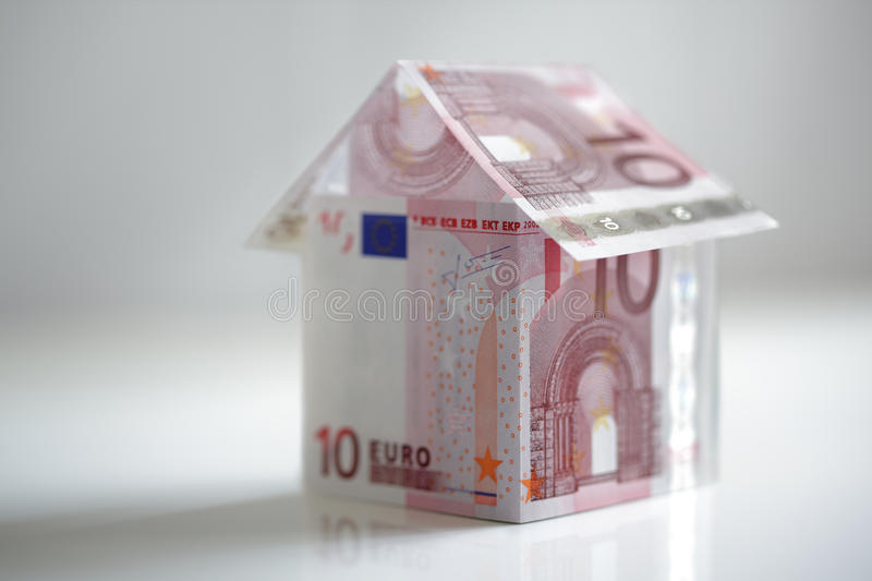Download House Made From European Union Currency Stock Photo - Image: 23396324