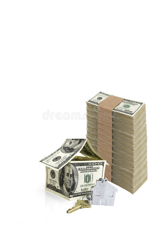 Download House Made From Hundred Dollar Bills And A Key Royalty Free Stock Image - Image: 7718916