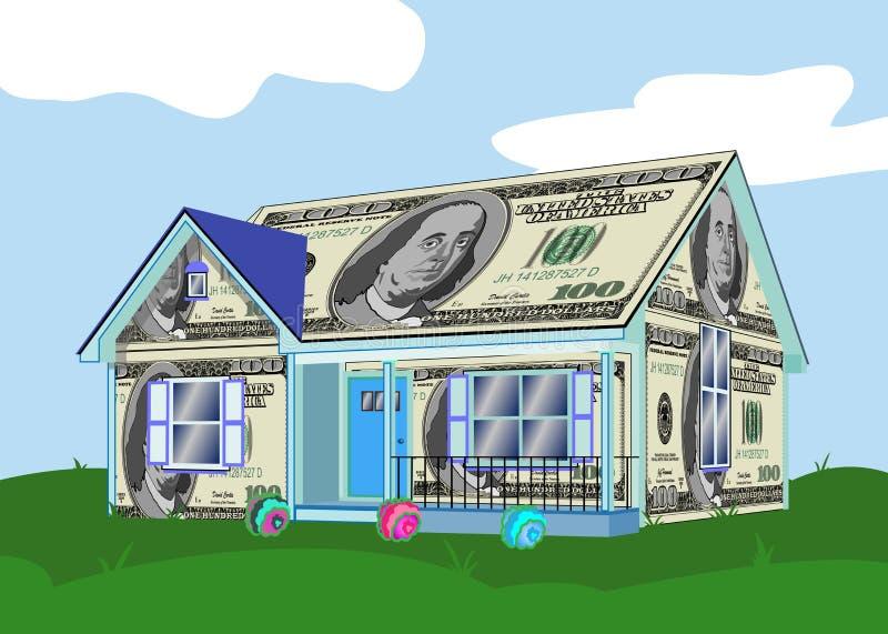 House Made of Money. stock illustration
